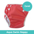 Cushie Tushies Aqua Reusable Nappy - Coral