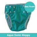 Cushie Tushies Aqua Reusable Nappy - Sea Foam