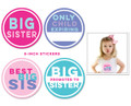 Sticky Bellies Big Sister Milestone Stickers