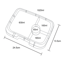 4 Compartment Dimensions