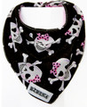 Bibska Skulls and Bows Bib