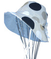 EJ Kids Reversible Sun Hat - Large Dot & Blue Stripe 2-3yrs