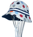 EJ Kids Reversible Sun Hat - Multi Dot & Blue 2-3yrs
