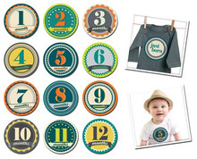 Sticky Bellies Badge Boy 0-12months