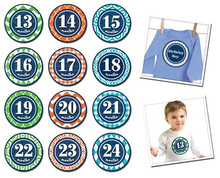 Sticky Bellies Patterned Prepster 13-24months
