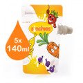 Sinchies Reusable Food Pouches - 140ml Fun 5 pack