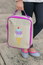 Apple and Mint Lunch Bag - Purple Icecream