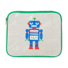 Apple and Mint iPad/DVD Case - Green Robot