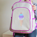 Apple and Mint Big Kid Backpack - Purple Ice Cream