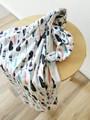 Elske Organic Baby Wrap / Light Blanket - Vintage Feathers