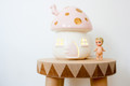 Little Belle Fairy Toadstool Light - Pink with Gold Dots