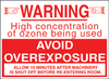 Ozone Caution Sign