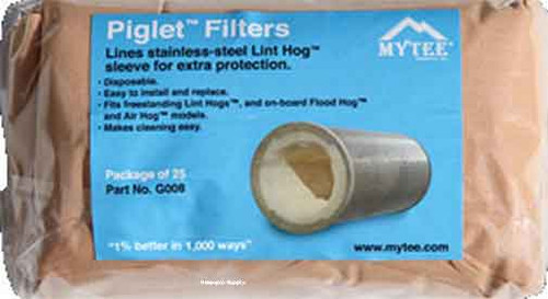 25 Pack Piglet Filters for Mytee Machine