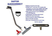 "Raptor Floor Wand combo includes 14"" brush head and 5"" squeegee head"