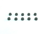 Aluminum M4 nylock nut Black (10)