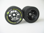 1/8 Rear 35 Shore Tyres - Carbon Xceed Wheel