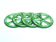 Aluminum Setup Wheels for 1/10 On-Road (Green) (4)