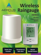 Aercus Instruments Wireless Professional Rain Gauge with In/Out Temperature