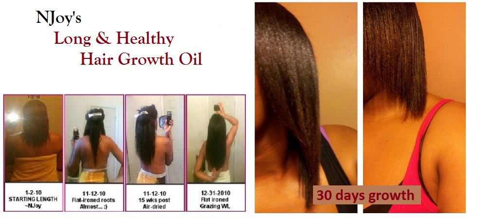 NJoy's Long & Healthy Hair Growth Oil