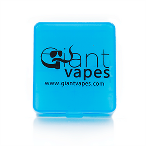 Battery Case - Blue case with Giant Vapes logo and website
