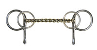 Half Cheek Bit, Heavy Twisted Wire Mullen Mouth 4-Ring (Bowman's #401)