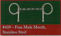 Half Cheek, Fine Mule Mouth of Stainless Steel (Bowman's #439)