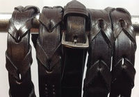 Dark Havana Brown Leather Laced Reins