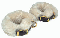 Sheepskin pictured. Leather cuffs not included here.