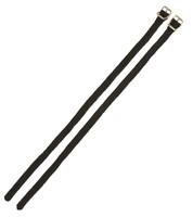 Spur Straps, Nylon Any Size Adjustable Black, Pair