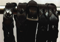 Black Leather Laced Reins