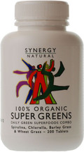 Synergy Natural 100% Super Greens Tablets