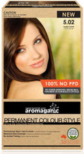 Aromaganic Organic Based Hair Colour 5.02 Light Brown/Coffee