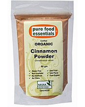 Pure Food Essentials Certified Organic Cinnamon Powder