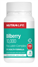 Nutra Life Bilberry 10,000 Plus Lutein Complex