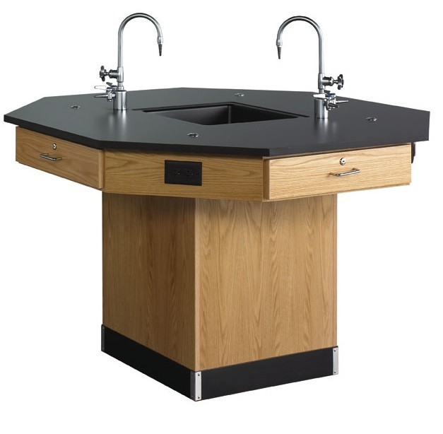 octagon science workstation w/pedestal base