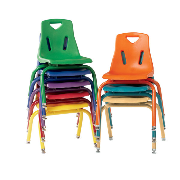 Colorful Plastic Preschool Stack Chairs
