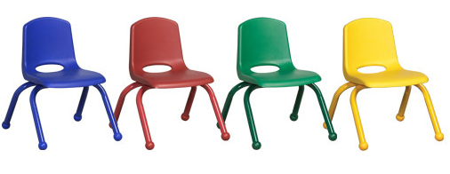 Preschool Chairs w/Color-Match Legs and Glides