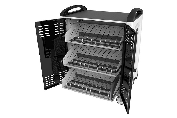 chromebook and notebook charge cart