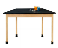 Diversified TZ7142M30 Chemguard Trapezoid Maple Table 30x60x30