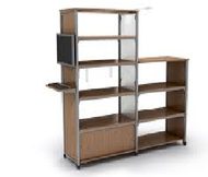 Paragon IC-S48S Information Commons Shelving 38W 12D 48H