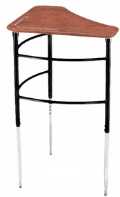 Scholar Craft 4692SP Kaleidoscope Adjustable Height Collaborate Trapezoid Solid Plastic with Wire Book Rack