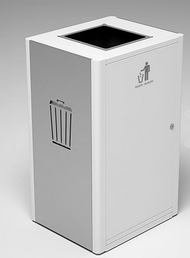 Magnuson UMEA-10 Umea Single Top 40 Gallon Compartment Waste Receptacle