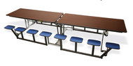 Mitchell Furniture Systems NP12/16 Portable Table with 16 Individual Seats 12 Feet Long