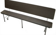 Mitchell Furniture Systems CB-17-E84 3 in 1 Table/Bench with Black Powder Coat Frame 7 Foot Table