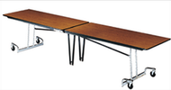 Mitchell Furniture Systems DUN12 Rectangular Fold N Roll Table with Chrome Legs 145 Inch Length Table