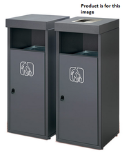 Magnuson RETTO-02 26.4 Gallon Outdoor Waste Receptacle with Front Opening and Galvanized Liner with Ashtray on Lid