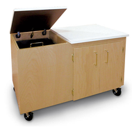 Hann CC-1B Mobile Clay Storage Cabinet