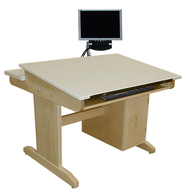 Hann CAD-3042T-KB CAD Drafting Table with Fixed Top