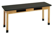Hann STB-4260M Maple Top Science Table with Bookwell 42x60