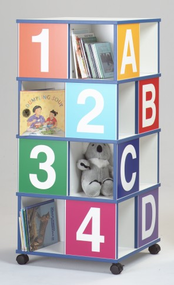 Gressco 39406 Four Tier ABC/123 Book Browser